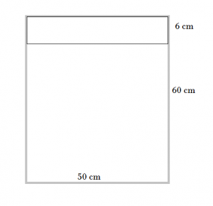 6 cm oberer Rand